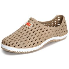 672ab28f23b3 Big Size Breathable Hollow Out Pure Color Soft Sole Flat Beach Sandals is  cheap and comfortable. There are other cheap women flats and loafers online.