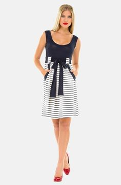 Olian Stripe Maternity Dress available at #Nordstrom