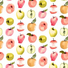 Apples fabric by angelger28 on Spoonflower - custom fabric