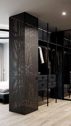 Four green home interiors illustrate how to decorate an all-green room. Including green living rooms, green bedrooms, green bathrooms and a green kitchen. Bedroom Closet Design, Home Room Design, Closet Designs, House Design, Living Room Green, Bedroom Green, Green Rooms, Garderobe Design, Home Decor Inspiration