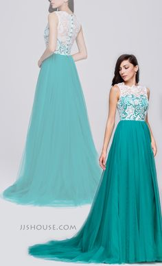 No need to double take, this elegant lace and tulle Prom dress will steal the show! #JJsHouse