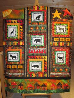 African quilt - ideas for my Kenya pictures.
