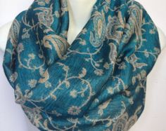 pashmina infinity scarf, loop scarf, circle scarf,  infinity scarves, pashmina scarf, pashmina loop scarf , infinity paisley scarf
