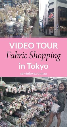 """Come with me fabric shopping in Japan! Tokyo's Nippori Textile Town is a must visit for any craft enthusiast. Here you'll find all your fave Japanese fabrics, like cotton lawn and double gauze. There's also rows and rows of craft stores where you can over. Use """"PINTEREST15"""" for 15% off my ebooks."""