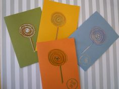 Sweet Lollipop Multicolor Thank You Folded Note by urbaneprincess, $6.00