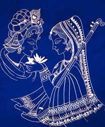Indian art Lord Krishna