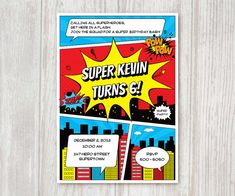 Hey, I found this really awesome Etsy listing at http://www.etsy.com/listing/112306667/superhero-printable-birthday-invitation