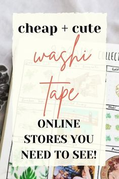 If you're a big lover of washi tape (and who isn't!), you need to know these online stationery stores! Online Stationery Store, Here's The Thing, Washi Tape, Need To Know, Bullet Journal, Big