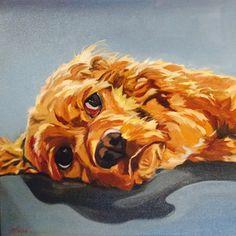 Meet Newton! Cocker Spaniel portrait http://evelynmccorristinpeters.com/petportraits