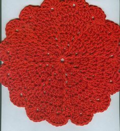 Fire Blossom Dishcloth by Beverly Button