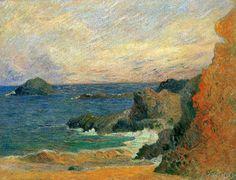 Paul Gauguin - Rochers au bord de la mer