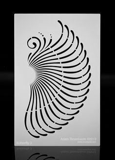 Butterfly Mandala Wing. Multipurpose / by OverlayAirStencils, $10.00