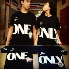 DIY Shirts For Couples (2 Year Anniversary)  Buy Iron On prints! #DIY
