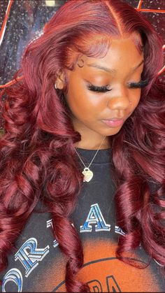 Hair Ponytail Styles, Curly Hair Styles, Natural Hair Styles, Dyed Natural Hair, Frontal Hairstyles, Baddie Hairstyles, Retro Hairstyles, Ponytail Hairstyles, Black Girl Braided Hairstyles