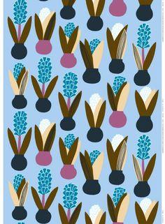 Lucia-puuvilla (v.sininen, sininen, oliivi) | Kankaat, Puuvillakankaat | Marimekko