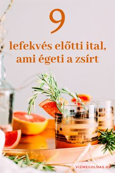 8 lefekvés előtti ital, ami égeti a zsírt Health And Wellness, Health Tips, Health Fitness, Kaja, Food To Make, Vitamins, Smoothies, Weight Loss, Healthy Recipes