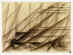 Balla, Giacomo; Abstract Speed; 1913, Charcoal on paper.