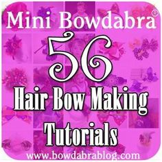 Looking for hair bow making tutorials with step-by-step instructions? We have gathered all our Mini Bowdabra hair bow blog posts (over the last two years) in put them all in one spot! All 56 hair bow tutorials are right here in one collection. Bowdabra hair bow making supplies: the Mini Bowdabra, the Hair Bow Tool …