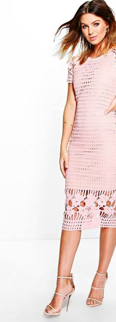 Amy All Over Crochet Border Detail Midi Dress - Dresses  - Street Style, Fashion Looks And Outfit Ideas For Spring And Summer 2017