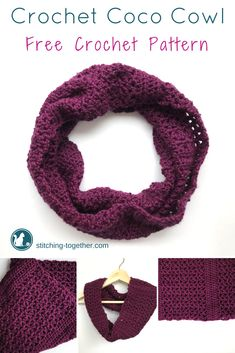 What a grogeous crochet cowl! Can you believe it is a free pattern and only requires one skein of Red Heart Soft yarn? I could easily make this in an afternoon. This is a must save pattern. #crochetcowl #freepattern #crochetpattern