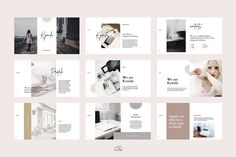 Kymila - PowerPoint Brand Template by bilmaw creative on Microsoft Powerpoint 2007, Infographic Powerpoint, Professional Powerpoint Templates, Creative Powerpoint, Websites Like Etsy, Branding, Eye For Detail, Brand Guidelines, Presentation Layout
