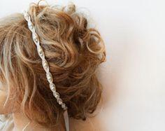 Lace Pearl Wedding Headband, Lace Bridal  Headband, Lace Pearl Weddings Hair, Bridal Hair Accessories