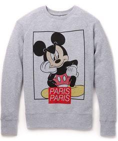 ELEVEN PARIS Disney Premium Grey Pullover Sweatshirt THINKING MICKEY Mens M NWT #ElevenParis #Crewneck