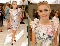 Kiernan Shipka In Giamba – CFDA/Vogue Fashion Fund Show