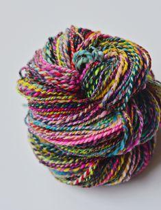 Handspun merino wool blend yarn