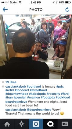 Thanks for the compliment on Instagram! #kabobpdx @Caspian Kabob