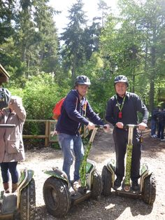 Joe Swash' Segway pose with our very own Mr Segway Thetford Dave.
