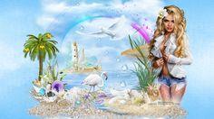 Fonds été 1 - Créations Armony Creations, Princess Zelda, Fictional Characters, Art, Craft Art, Kunst, Fantasy Characters