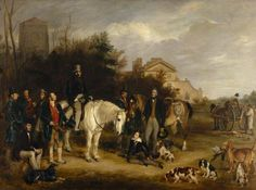 The Athenaeum - A Shooting Party at Ranton Abbey, Staffordshire (Sir Francis Grant, P. William Lamb, European Decor, Sir Francis, Majestic Horse, Art Uk, Old Dogs, Sports Art, Historical Romance, Horse Art