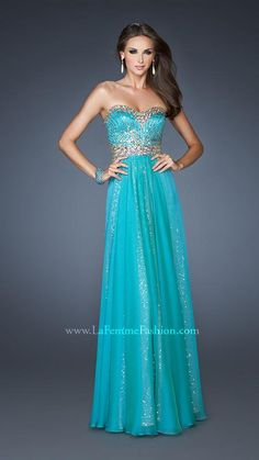 Prom wedding dresses on pinterest tony bowls la femme for Ocean themed wedding dress