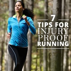 Runners can experience injury, there is no doubt about that. Here are 7 Tips for Injury Proof Running that will help you. #running #runninginjuries #fitness
