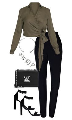 """""""Untitled #4332"""" by theeuropeancloset ❤ liked on Polyvore featuring Plakinger, Yves Saint Laurent, Louis Vuitton, NOVICA and Topshop"""