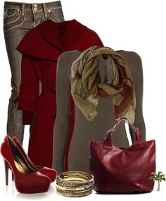 "switch out the pumps for boots ~ ""Red"" by cindycook10 on Polyvore"