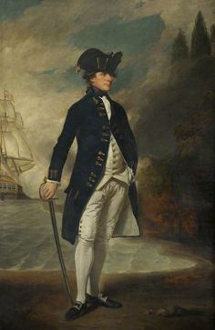 Captain, Later Admiral, Sir Hyde Parker (1739–1807)  by George Romney