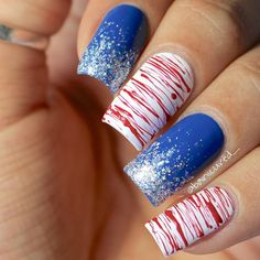 4th of July Nails. 4th Of July Nails, Beauty Trends, Nail Art Designs