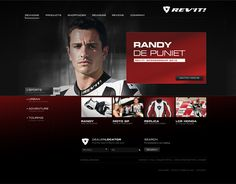REV'IT! Website by Jasper Janssen, via Behance