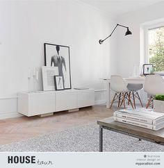 A spacious 42 spm apartment in Sweden with scandinavian decor.