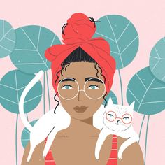 Lazy day starter pack headscarf messy bun and my cat . - Lazy day starter pack headscarf messy bun and my cat …Credit charlyclementsFol… – - People Illustration, Portrait Illustration, Character Illustration, Digital Illustration, Art Afro, Framed Art Prints, Canvas Prints, Posca Art, Orange Art