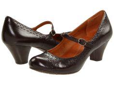 Naya Womens Castalia Leather Mary Jane Pump Heels Shoes [ Brown / Bordo ]
