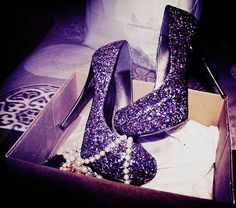 I know they are blinged out, but they're sparkly and purple and cute and it's your day so it's ok :)