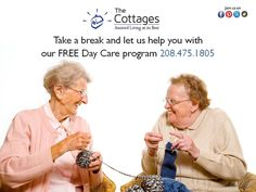 The Cottages offers a FREE day care service that allows individuals to become acquainted with our homelike atmosphere www.thecottages.biz