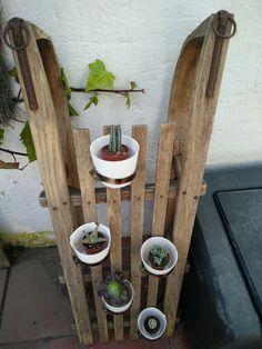 Jardinera vertical trineo DIY