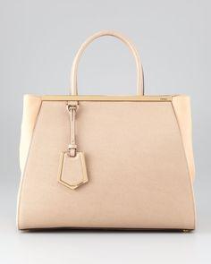 78e945088a4b 2Jours Medium Saffiano Tote Bag by Fendi Fendi Purses