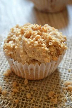 These muffins are loaded with chunks of apple and topped with a brown sugar, cinnamon streusel. I am so ready for fall baking. Apple Desserts, Apple Recipes, No Bake Desserts, Apple Cakes, Yogurt Recipes, Muffin Recipes, Bread Recipes, Yummy Recipes, Healthy Recipes