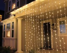 Christmas Home Decorations Led Light Curtains And Icicles