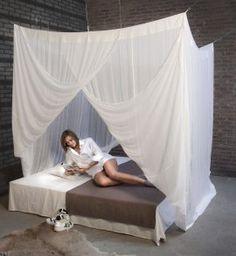 Moustiquaire de lit coton, pour un lit de une ou deux personen.